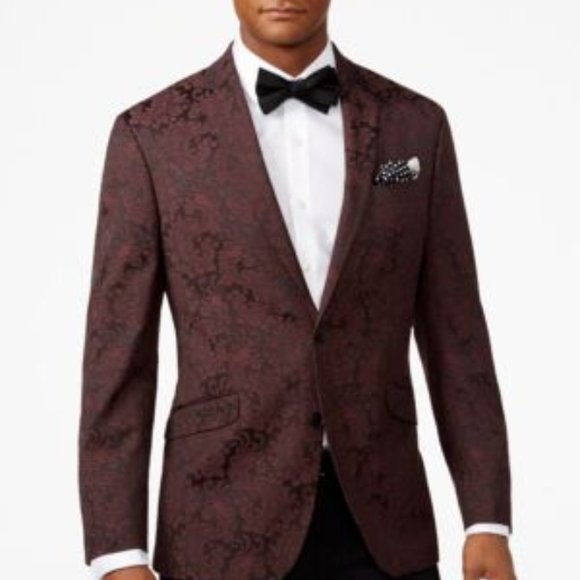 Kenneth Cole Reaction Other - NWT Kenneth Cole Slim-fit Paisley Dinner SportCoat